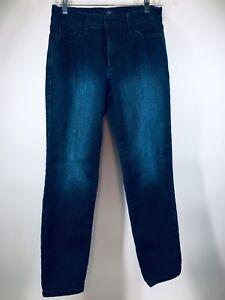 NYDJ-Sz-6P-x-26-Not-Your-Daughters-Jeans-Dark-Blue-Stretch-Denim-Ankle-Crop