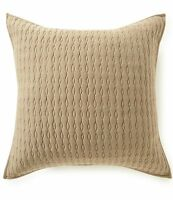 Moderne By Noble Excellence Nova Quilted Euro Sham 26 X 26 Taupe