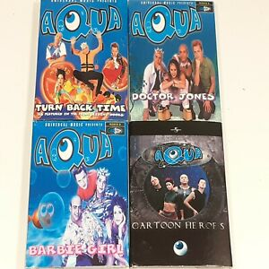 AQUA-JOBLOT-BUNDLE-CASSETTE-SINGLES-BARBIE-GIRL-CARTOON-TURN-BACK-DOCTOR-JONES
