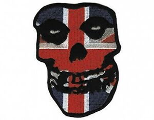 MISFITS-british-skull-2009-EMBROIDERED-SEW-IRON-ON-PATCH-official-IMPORT