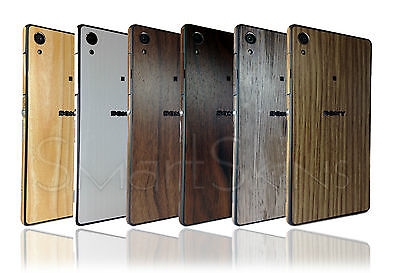 Textured Wood Skin Sticker For SONY XPERIA Z2 Wrap Cover Protector decal case