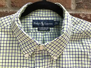 Polo-Ralph-Lauren-Men-039-s-Button-Down-Shirt-Classic-Fit-XL-Blue-and-Green-Gingham