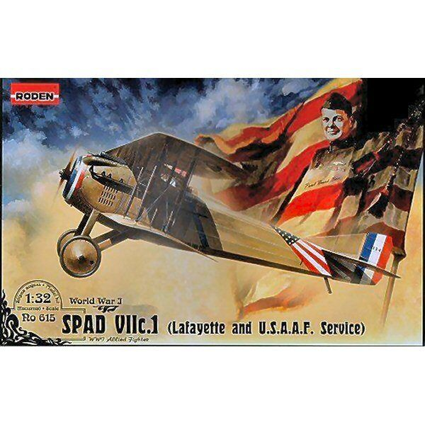 Roden 615 Spad VIIc1 Lafayette & USAAF 1 32 scale plastic model kit