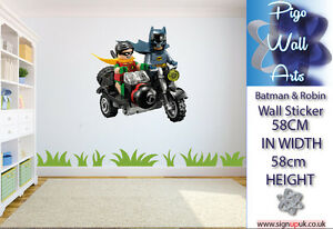 Image Is Loading Lego Wall Sticker Batman And Robin Kids Bedroom