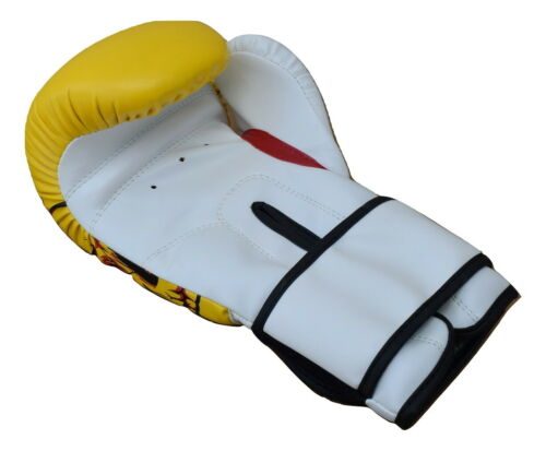 Boxing Gloves Art Leather Punch Training Sparring Kickboxing MMA Fighting