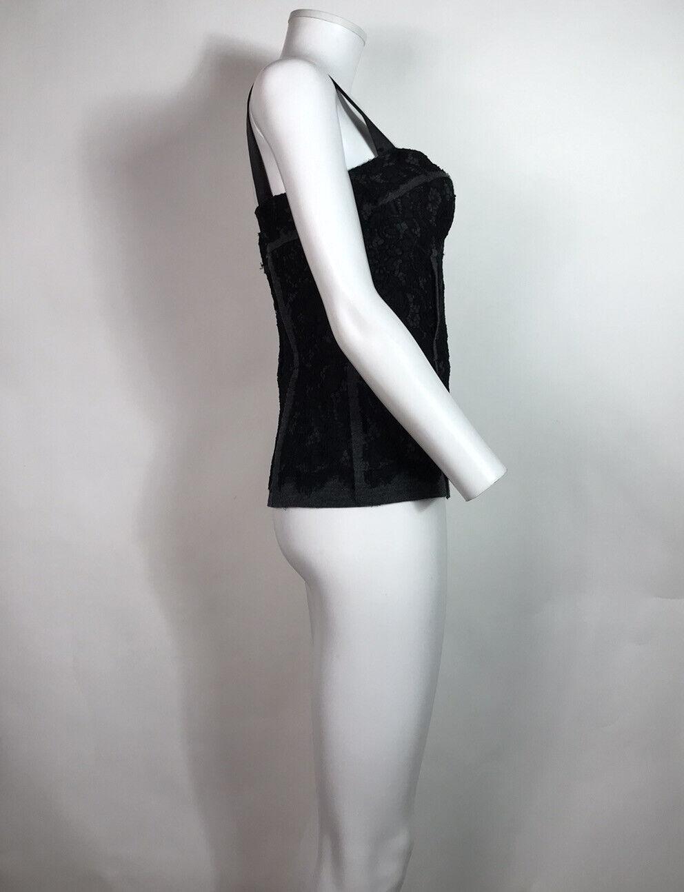Rare Vtg Dolce & Gabbana Black Lace Corset Top L - image 4