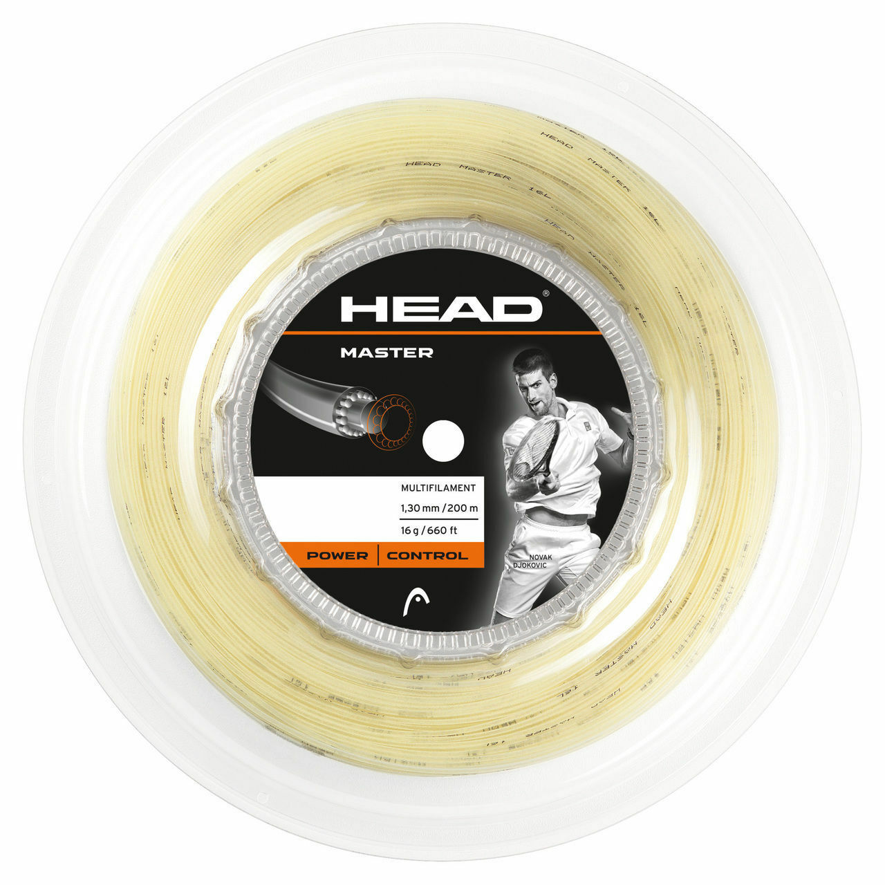 HEAD MASTER 15 / 1.40 mm Tennis Tennis Tennis stringa 200m Reel-naturale ba206d