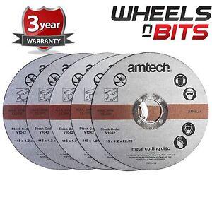 Lot-de-5-10-15-20-1-2mm-x-115mm-4-5-034-metal-acier-coupe-disque-de-lames-de-coupe-disque