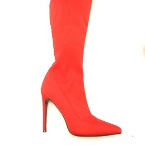 ffb6afb030b Details about Steve Madden Wonder Womans Red Tall Stiletto Sexy Heel Super  Hero Cosplay 7.5