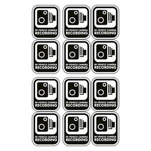 In-vehicle-recording-CCTV-sticker-set-x-12-decals-dash-cam