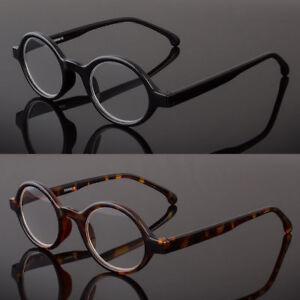 45285588bd99 Image is loading Black-Tortoise-Round-Oval-Reading-Glasses-Readers-John-