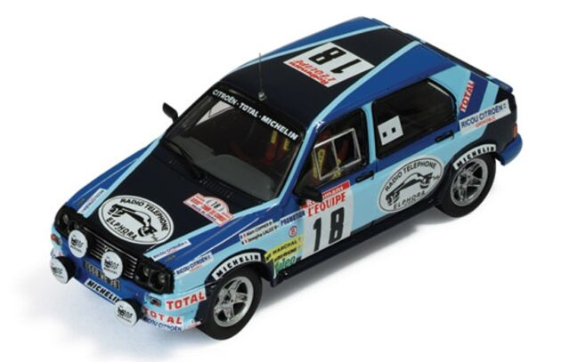 CITROEN VISA CHRONO #18 TOUR DE CORSE 1983 COPPIER LALOZ IXO RAC127 1/43 TOTAL