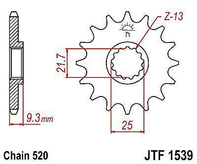 JT Front Sprocket JTF1539 14t fits Kawasaki EX250R Ninja 250 R 08-12