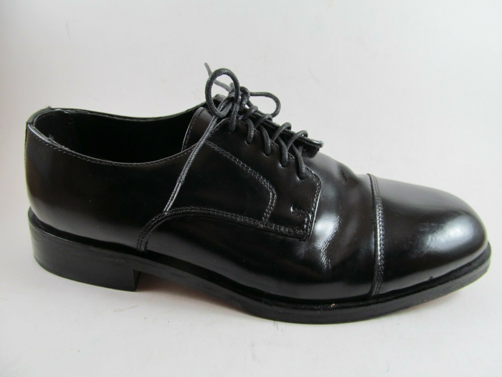 Nunn Bush Dress Flex 8 M Black 83522 Maddox Leather Oxford Cap Toe Laces