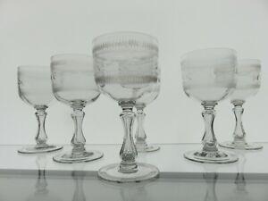 6-Grose-Biedermeier-Weinglaeser-Kelchglaeser-schaft-ist-hol-und-geschliffen-1