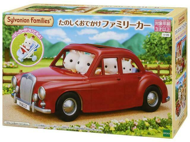Sylvanian Families RED FAMILY CAR Epoch Calico Critters
