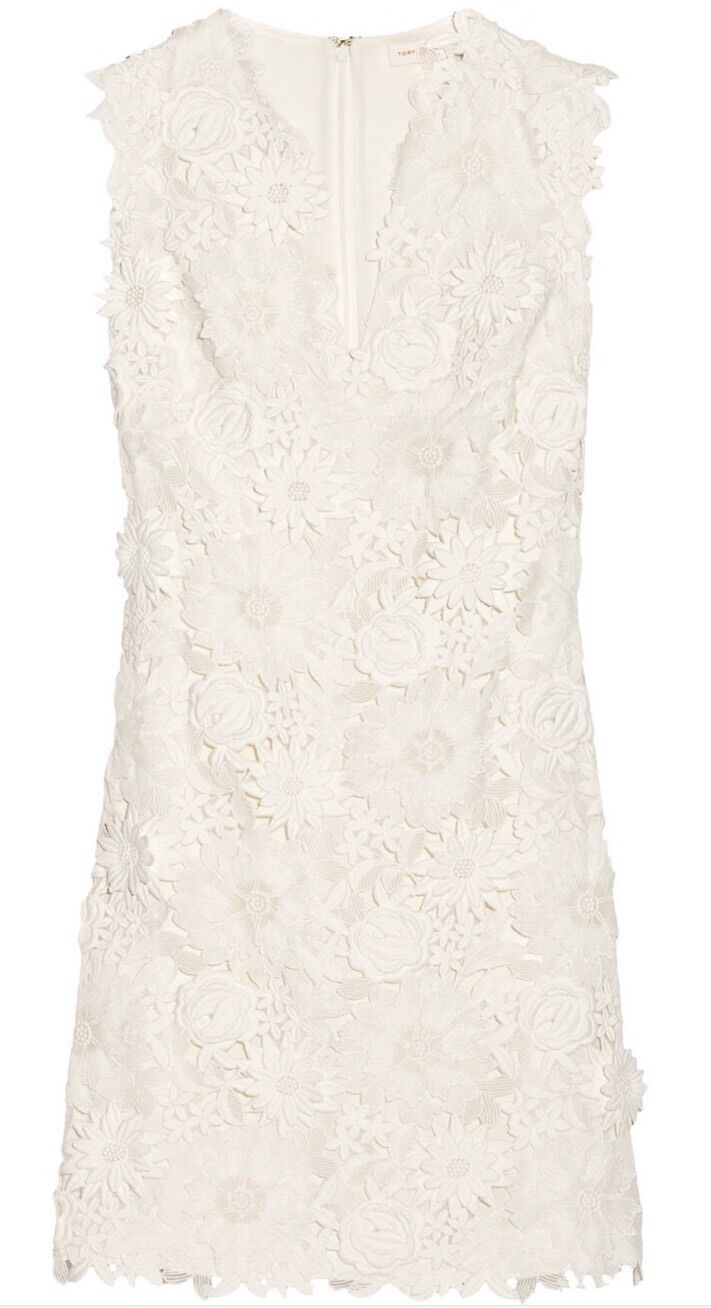 NWT  Tory Burch Merida ivory floral lace dress size 6