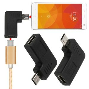 90-Degree-Micro-USB-Male-To-Type-C-Female-Adapter-For-Samsung-S7-Xiaomi-Huawei