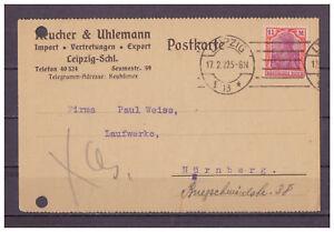 Deutsches-Reich-Firmenbeleg-MiNr-151-EF-Leipzig-nach-Nuernberg-17-02-1922