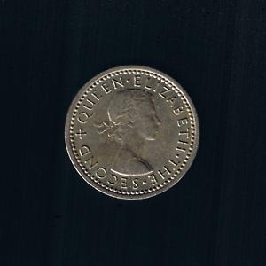 New Zealand - 1964, Threepence - Queen ELIZABETH II