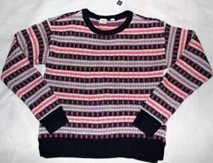 609d5fba7 NWT Gap Kids Girl s Navy Pink Fair Isle Sweater XXL 12 14 16