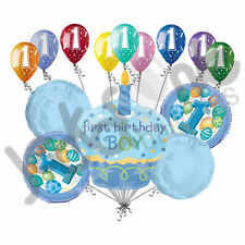 14 pc 1st Happy Birthday Cupcake Balloon Bouquet Party Decoration Baby One 1 Boy