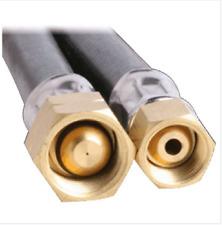 LPG NATURAL GAS HOSE 6mm PVC BLACK 1/4'' BSP FC x 3/8'' BSP-LHF 6HTB4000 4000mm