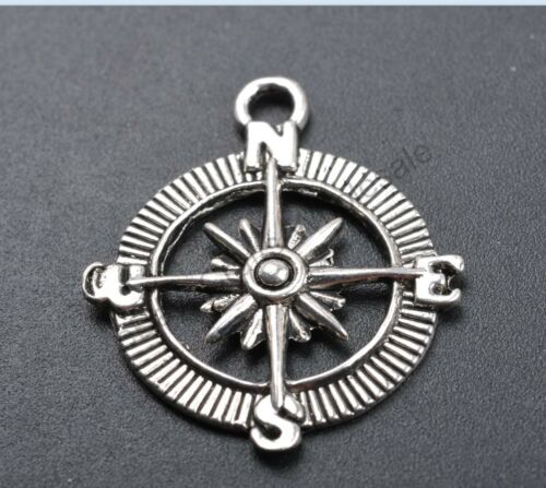 10pcs Tibetan Silver The Compass Charms Pendants 29x25MM CA49