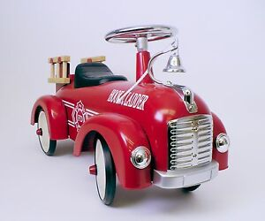 Speedster-Kids-Ride-On-Scoot-Along-Fire-Truck-Red-Hook-and-Ladder