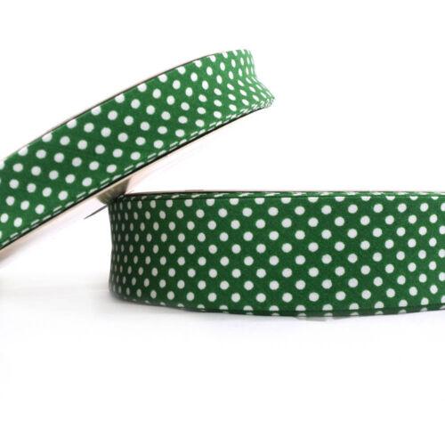 Dot bieses 30mm-Verde-tejido de algodón doblado Trim