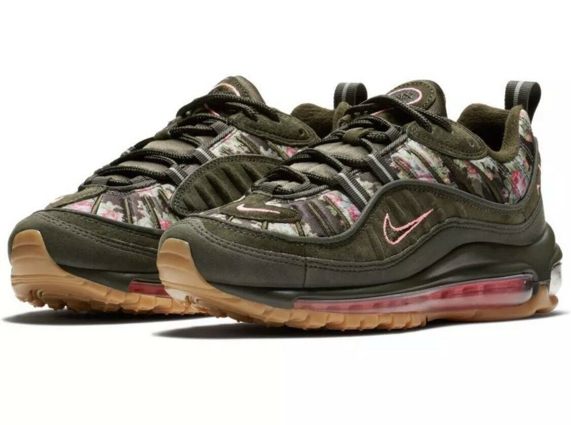 Nike Air Max 98 Sequoia Floral Camo Pink Women Size 6.5 AQ6468-300