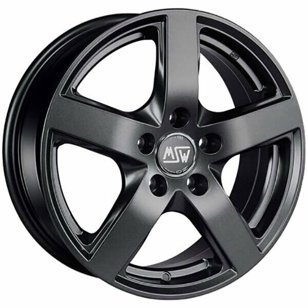 LLANTAS MSW 55 7.5X17 5X112 ET52 BMW X1 MATT DARK GREY 431