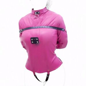 PU Asylum Straight Jacket Costume S/M L/XL BODY HARNESS Restraint ...