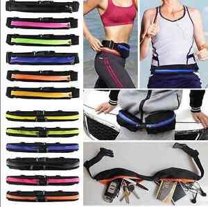 e7595830b21e Details about Single/Double Sport Runner Fanny Pack Belly Waist Bag Fitness  Pouch Running Belt