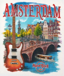 Hard-Rock-Cafe-AMSTERDAM-2016-City-Tee-White-T-SHIRT-2X-XXL-Men-039-s-New-w-Tags-V16