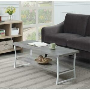 Convenience Concepts X-Calibur Coffee Table in Driftwood Gray Wood Finish