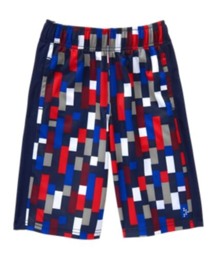 NWT Gymboree Boy GYMGO Activewear Blue Red Gray Athletic Shorts Size S 5 6