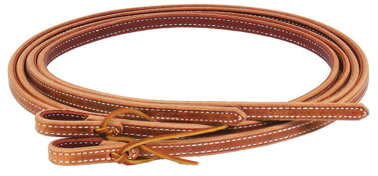 Schutz Extra Heavy Double Ply Stitched Leather Reins 5 8  braun Prof Choice