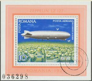 RUMANIEN-1979-VFU-Block-Luftschiffe-Zeppelin-LZ-127-ueber-BUKAREST-16-10-1929