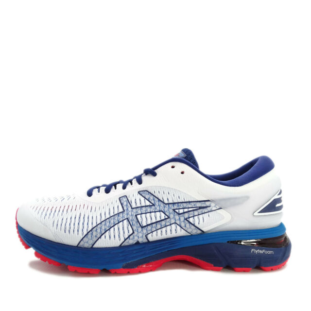 Asics Gel kayano 24 Men's Running Shoes Whiteblue Prin