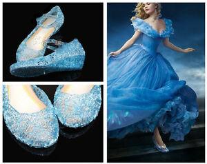 Blue Glass Shoes Elsa