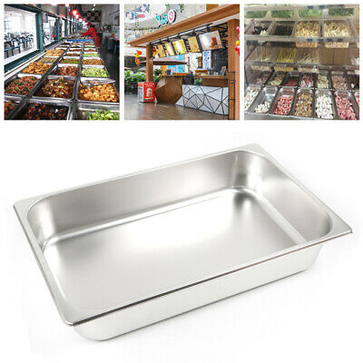 "6 PACK Full Size 2/"" Deep Stainless Steel Steam Prep Table Hotel Buffet Food Pan"