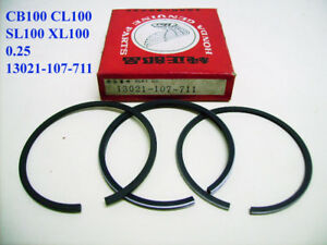 Honda CB100 CL100 SL100 XL100 Piston Ring 0.25 NOS 1st Oversized 13021-107-711