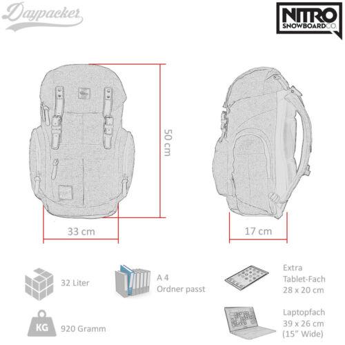 Nitro Rucksack Daypacker Freizeitrucksack Sportrucksack Vintage backpack Wahl