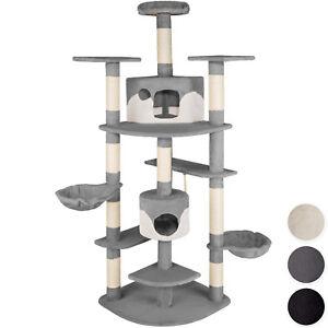 arbre chat griffoir grattoir geant xxl 2 grottes 204cm chats hamac ebay. Black Bedroom Furniture Sets. Home Design Ideas