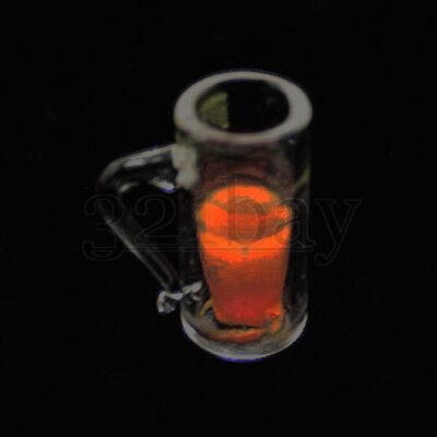 Mini Bier Glas 1:12 Miniatur Geschirr Bierglas Miniatur Gläser Biergläser Krug