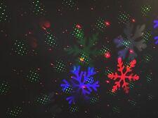 2in1 - Rosso e Verde Che si muove Laser + 28 Motivo Luce Di Natale Proiettore