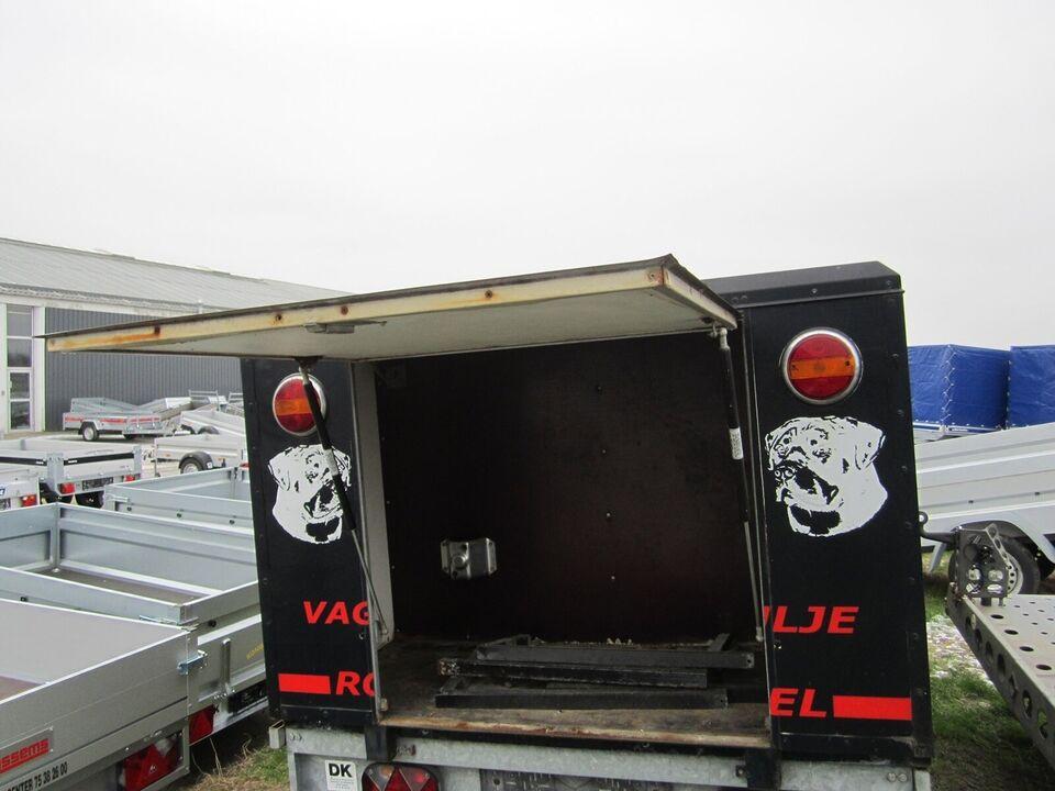 Trailer Sort hundetrailer kasse, 4 hund uden trailer,