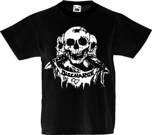 KIDS TODDLER BABY T-SHIRT PUNK ROCK 1-13 yo unisex skulls discharge alternative
