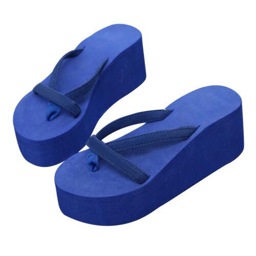 Damen Sandalen Flip Flops Strand Schuhe Zehentrenner Wedge Sommer Neu